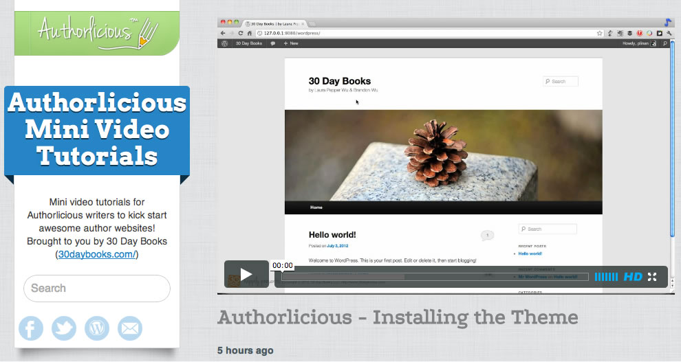 WordPress video tutorials for authors