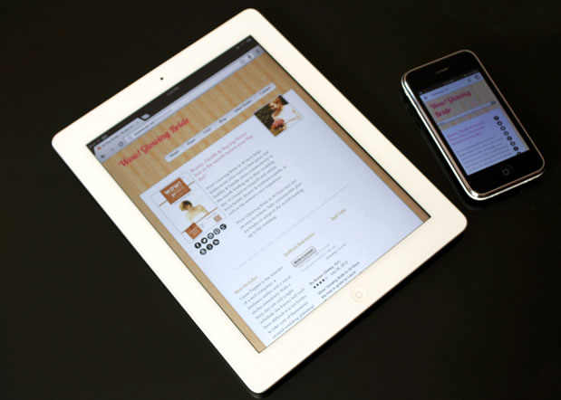 Author Website on Mobile and Tablet