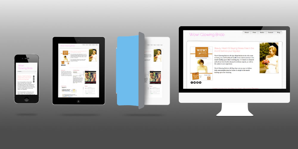 Responsive Layout - Authorlicious Author Website Theme