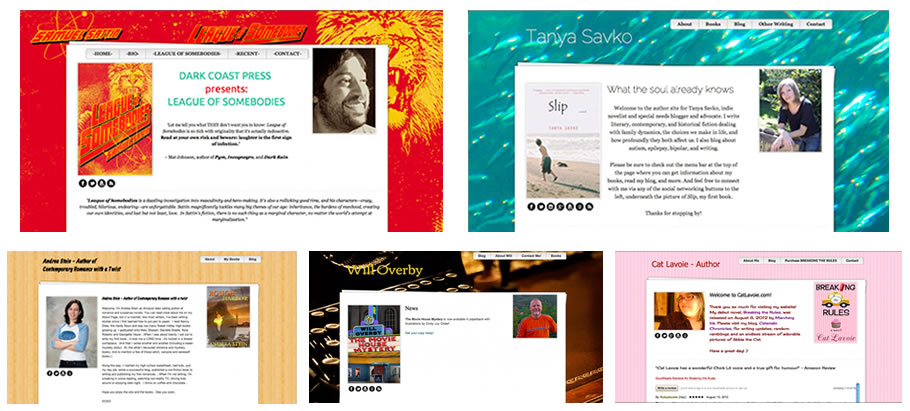 Authorlicious Author Website Template